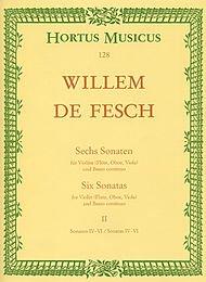 Sechs Sonaten für Violine (Flöte, Oboe, Viola, Alt-Viola da gamba) und Basso continuo -Sonaten G-dur, A-dur, h-moll. Für das Solo-Instrument Stimmen ... und Viola-Schlüssel)- (Heft 2). Spielpartitur (Sechs Sonaten Für Zwei Flöten)