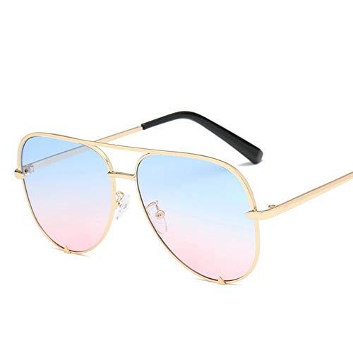 Taiyangcheng Rosa Sonnenbrille Silber Spiegel Metall Sonnenbrille Pilot Aviator Sonnenbrille Frauen Männer Shades Eyewear,C7