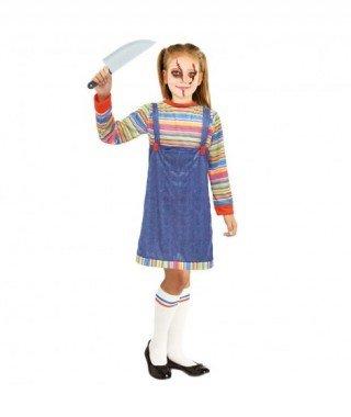 Partilandia Disfraz Muñeca Asesina niña 2-4 años