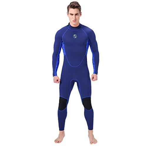 en Tauchanzug voll Karosserie Tauchen Neoprenanzug Surfen Schwimmen Overal(Blau,S) ()