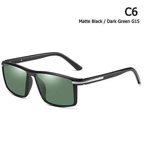ZHOUYF Sonnenbrille Fahrerbrille Mode Kühlen Quadratischen Stil Tr90 Rahmen Polarisierte Sonnenbrille Männer Fahren Markendesign Sonnenbrille Oculos De Sol, F