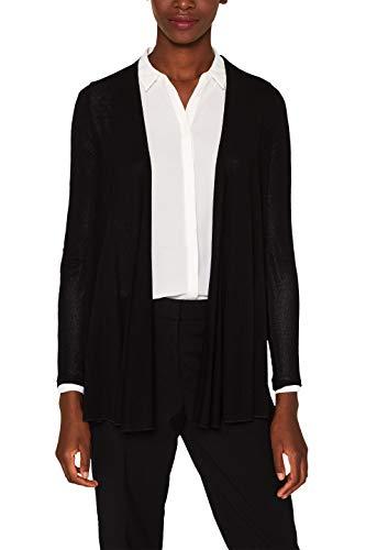 ESPRIT Collection Damen Strickjacke 997EO1K808, Schwarz (Black 001), Medium