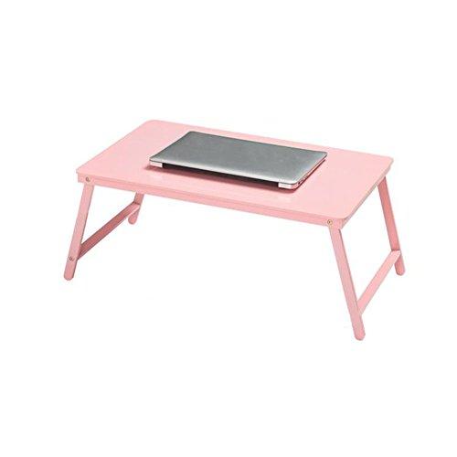 Tische Schreibtisch Bett Tablett Qualität Laptop Sofa Buch Lesen Notizbuch Bambus Stand Stabil Solide Versammlung CJC (Farbe : Pink) - Pink Kaffee-tisch-bücher