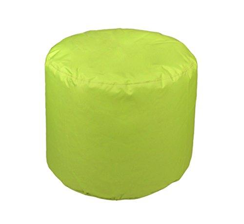 Kinzler S-10118/120 Sitzhocker rund, ca. Ø50 x H40 cm, Outdoor & Indoor, Sitzsack in vielen verschiedenen Farben, wasserabweisender Hocker, apfel grün