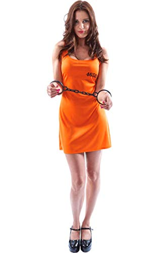Orange Convict Dress - Large (Beige Gefängnis Kostüm)