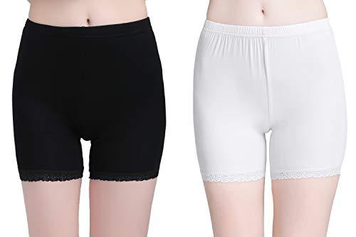 Vinconie Panty Blanc Femme Sécurité Short Leggings Pantalon Court Femme Doux