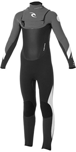 2016 Rip Curl Junior Dawn Patrol 3/2mm ChestZip Wetsuit Black/Charcoal WSMXEB