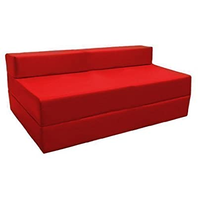 Ready Steady Bed Fold-Out Water Resistant Z Bed Sofa, Red - inexpensive UK sofabed shop.