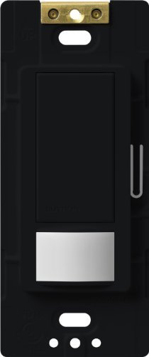 Lutron Maestro Motion Sensor switch, no neutral required, 600 Watts Single-Pole/Multi Location, MS-OPS5M-BL, Black by Lutron -