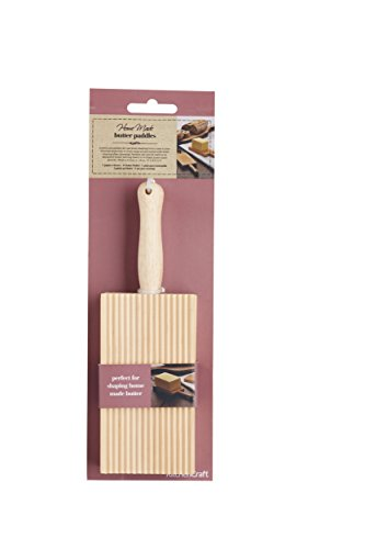 Kitchen Craft Home Made Wooden Butter Paddles / Gnocchi Boards, 20 x 6.5 cm (Set of 2)