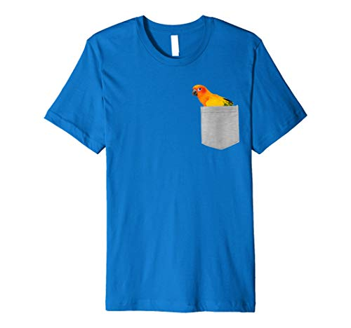 Animal in Your Pocket Hello Sun Conure Parrot Shirt (Sun Parrot Conure)