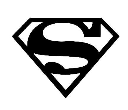 Superman Stickers Auto/Vitres arrière vinyle, de qualité (13x 10cm),/dentelle qualité.