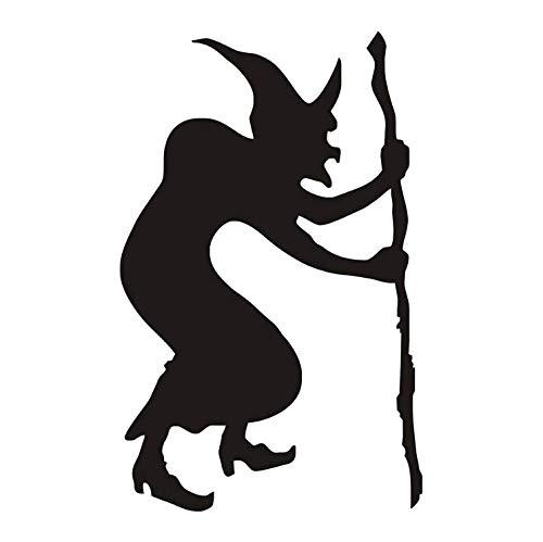(limicry Bucklige Hexe Krücke Moderne Wandaufkleber Für Kinder Schlafzimmer Halloween Party Aufkleber Wohnzimmer Wohnkultur Wasserdichte Tapete29 cm X 46 cm)