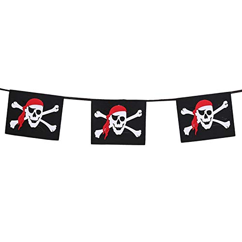 Vi yo Burlap Bunting Banners with 2 8m  Halloween Banner for Halloween Pirate Hanging Decorations