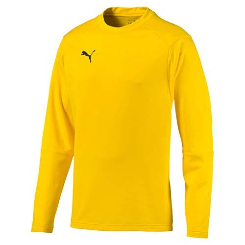 PUMA Herren Liga Training Sweat Sweatshirt, Cyber Yellow Black, 3XL