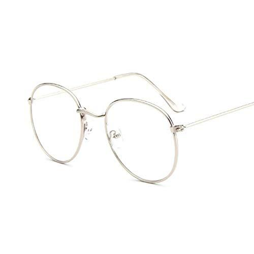 Kjwsbb Runde Brille Frauen Sonnenbrilleweibliche Optik Brillen klare Linse transparente Spitze