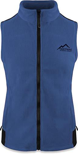 normani Fleece Weste für Damen mit Reißverschlusstaschen, Stehkragen, ZIP-T3K System Farbe Navy Größe L