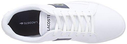Lacoste Europa Lcr3, Scarpe da Ginnastica Basse Uomo Bianco (Black/black)
