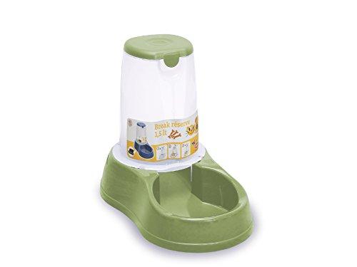 Distributeur de croquettes antidérapant vert 1,5 kg pour chien et chat/ZOLUX
