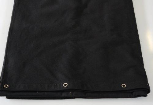 Bühnenvorhang grösse wählbar Farbe:schwarz B1 Molton 300gr/m geöst (300 * 400cm)