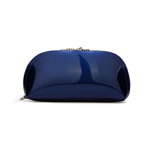 Lady Pelle Verniciata Cuoio Dell'unità Di Elaborazione Sacchetto A Mano Sacchetto A Mano Sacchetto Cosmetico Sacchetto Di Sera Colore Della Caramella Optional A 15 Colori SapphireBlue