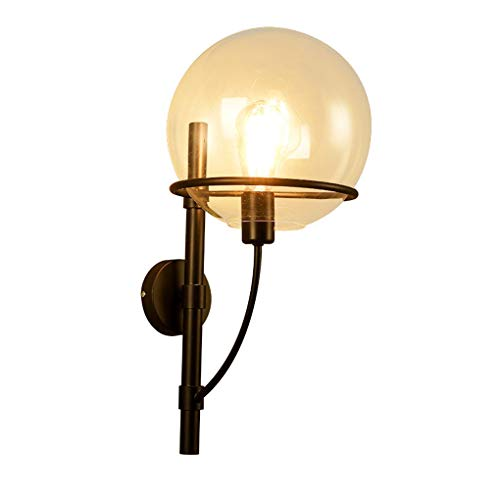 FEI Antique Loft Applique Chambre Chevet Lampe Salon Rétro Fer en Verre Suspensions Murales