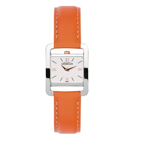 Women's Watch Michel Herbelin - 17037/TR21OR - 5EME AVENUE - Leather Band Orange