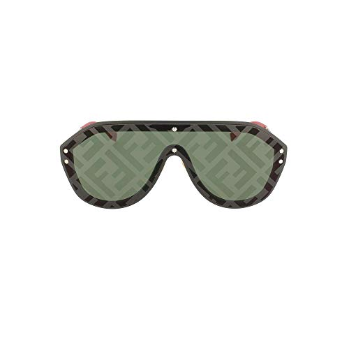 Fendi occhiali da sole fabulous ff m0039/g/s black/green uomo