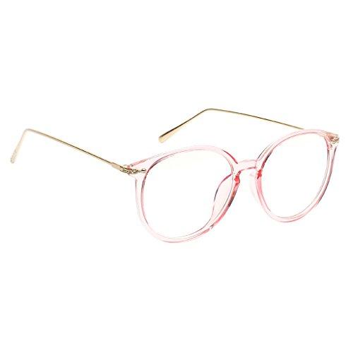Homyl Damen Durchsichtig klare Linse Klarglas Brille Metallrahmen Nerdbrille Brillenfassungen -...