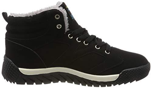 SITAILE Herren Sportschuhe Schnüren Winter Sneakers Freizeitschuhe Warm Gefütterte Winterschuhe,schwarz,47 - 6