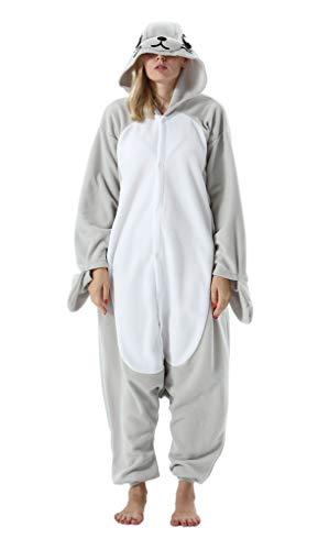 SAMGU Tier Onesie Pyjama Cosplay Kostüme Schlafanzug Erwachsene Unisex Animal Tieroutfit tierkostüme Jumpsuit Dichtung(Größe M)