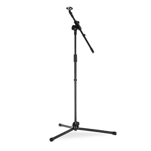 Malone ST-8 • Mikrofonständer • Mikrofonstativ • mit Galgen • Schwenkarm • Neigung- und Höhe verstellbar • solide Dreibein-Konstruktion • klappbare Füße • Kabelclips • Universal-Mikrofonklemme • 3/8