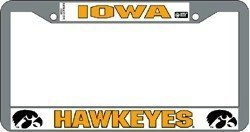Iowa Hawkeyes Chrome License Plate Frame by Hall of Fame Memorabilia