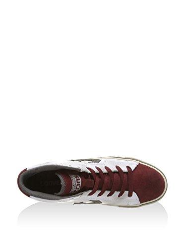 Converse, Pro Leather Vulc MID Leath Sue, Sneaker, Unisex - adulto White/Maroon/Charcoal