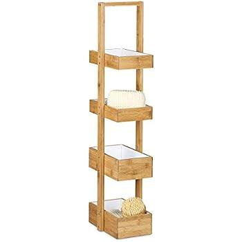 Woodkings® Badregal Dingle 30x30 Holz Pinie Natur rustikal
