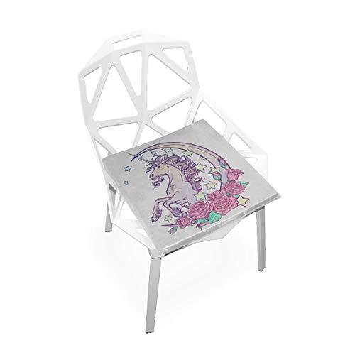 Unicorn Moon Benutzerdefinierte Weiche rutschfeste Platz Memory Foam Stuhlkissen Kissen Sitz Für Home Küche Esszimmer Büro Schreibtisch Möbel Innen 16x16 Zoll ()