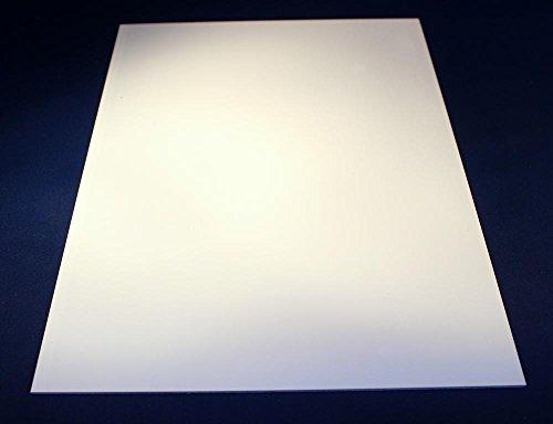 4x Kunststoff Bastelplatten PVC Hartschaum 300x200x5mm | weiß |