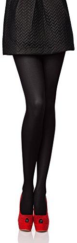Antie Medias Panty en Microfibra Lencería Sexy Mujer 40 DEN (Negro, XL (Tamaño del fabricante: 5))