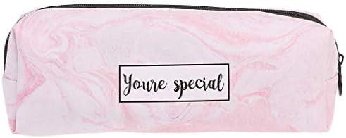 Marbre Marbre Marbre Imprimé Trousse Sac de stylo Maquillage Pouch portefeuille Grande contenance Marbre étanche (rose) | Couleur Rapide  c9c415