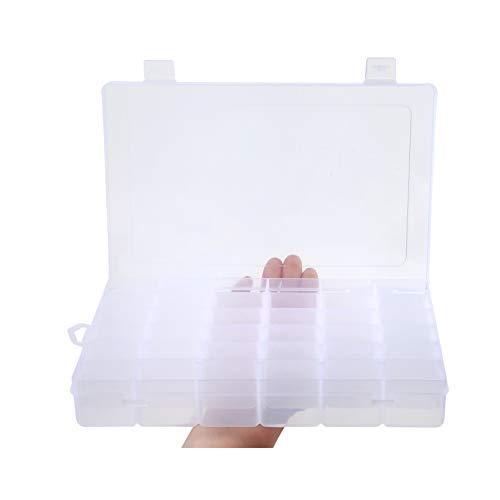 Snowkingdom griglia scatola organizer portaoggetti in plastica trasparente per display collection con divisori regolabili, plastica, clear, 36 grid