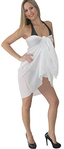 9 Modelle Sarong Pareo Wickelrock Badeanzug Strandtuch Tuch Wickeltuch Handtuch Schließe Strandkleidung Ruhig Weiß