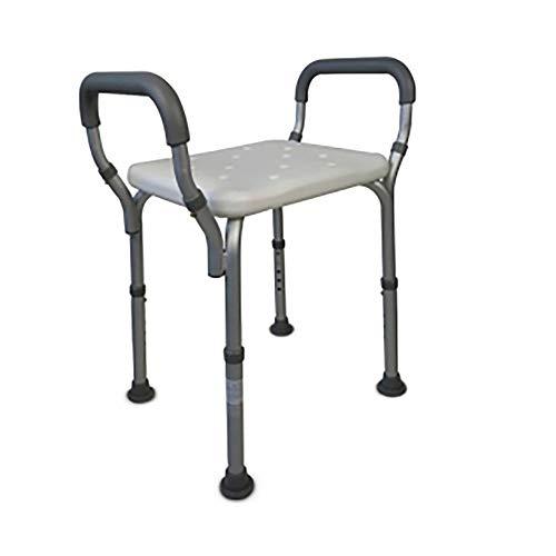 Sedia da doccia/bagno | Sgabello regolabile in altezza | Comodi braccioli imbottiti e puntali antiscivolo | Peso massimo sopportato: 135 Kg | Modello Acueducto | Mobiclinic