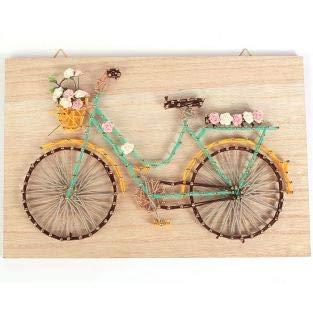 6116f1e8d Graine Créative Kit Cuadro de Madera String Art 30 x 20 cm - Bicicleta