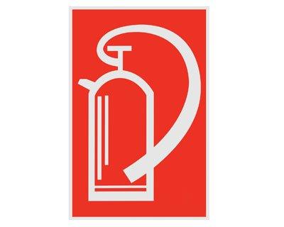 Hinweisschild rot \'Feuerlöscher\' - 200x300mm / - Abverkauf solange der Vorrat reicht!