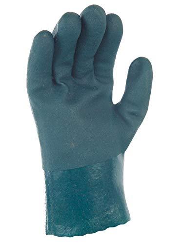 Gants SYNTHETIQUES PVC Vert DBLE ENDUC. 27 CM 8.5-9