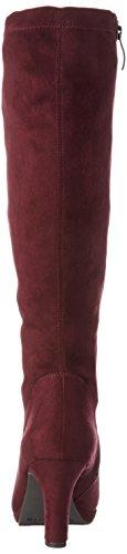 Tamaris 25522,Bottes hautes classiques Femme Rouge (Vine 558)