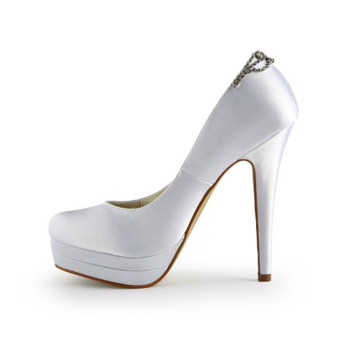 Scarpe Wedding donna 40932 Bianco tacco Jia Scarpe Sposa Jia col qOOCf