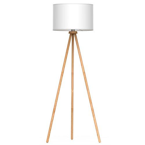 Tomons Lámpara de suelo Lámpara de Pie Lámpara vertical en madera con trípode removible para sala de estar, dormitorio, estudio, Estilo nórdico