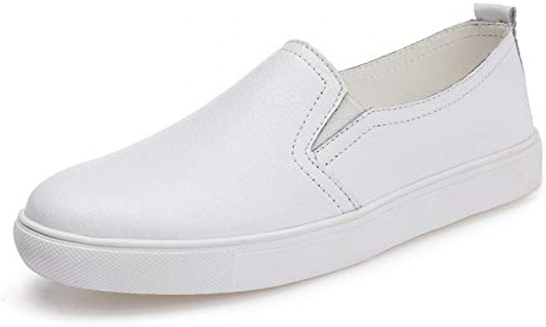 Hasag Zapatos nuevos de Mujer Planos Zapatos Casuales Zapatos Blancos Sneakers36