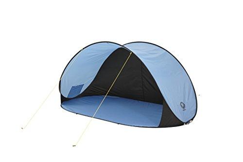 Grand Canyon Venice - Pop Up Strandmuschel / Strandzelt, mit UV40-Schutz, als Sonnenschutz, Windschutz, für Strand, Garten, Camping, schneller Aufbau, blau, 302201